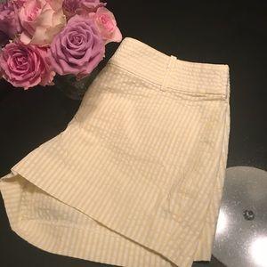 JCrew yellow & white seersucker shorts S-0